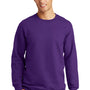 Port & Company Mens Fan Favorite Fleece Crewneck Sweatshirt - Team Purple