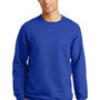 Port & Company Mens Fan Favorite Fleece Crewneck Sweatshirt - True Royal Blue