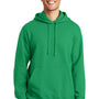 Port & Company Mens Fan Favorite Fleece Hooded Sweatshirt Hoodie - Athletic Kelly Green