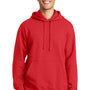 Port & Company Mens Fan Favorite Fleece Hooded Sweatshirt Hoodie - Bright Red