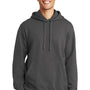 Port & Company Mens Fan Favorite Fleece Hooded Sweatshirt Hoodie - Charcoal Grey