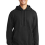 Port & Company Mens Fan Favorite Fleece Hooded Sweatshirt Hoodie - Jet Back