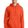 Port & Company Mens Fan Favorite Fleece Hooded Sweatshirt Hoodie - Orange