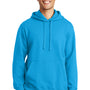 Port & Company Mens Fan Favorite Fleece Hooded Sweatshirt Hoodie - Sapphire Blue