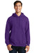 Port & Company PC850H Mens Fan Favorite Fleece Hooded Sweatshirt Hoodie Purple Front