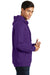 Port & Company PC850H Mens Fan Favorite Fleece Hooded Sweatshirt Hoodie Purple Side