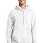 Port & Company Mens Fan Favorite Fleece Hooded Sweatshirt Hoodie - White