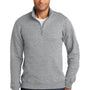 Port & Company Mens Fan Favorite Fleece 1/4 Zip Sweatshirt - Heather Grey