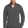 Port & Company Mens Fan Favorite Fleece 1/4 Zip Sweatshirt - Charcoal Grey