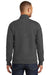 Port & Company PC850Q Mens Fan Favorite Fleece 1/4 Zip Sweatshirt Heather Dark Grey Back