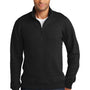 Port & Company Mens Fan Favorite Fleece 1/4 Zip Sweatshirt - Jet Back