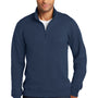 Port & Company Mens Fan Favorite Fleece 1/4 Zip Sweatshirt - Team Navy Blue