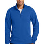 Port & Company Mens Fan Favorite Fleece 1/4 Zip Sweatshirt - True Royal Blue