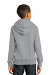 Port & Company PC850YH Youth Fan Favorite Fleece Hooded Sweatshirt Hoodie Heather Grey Back