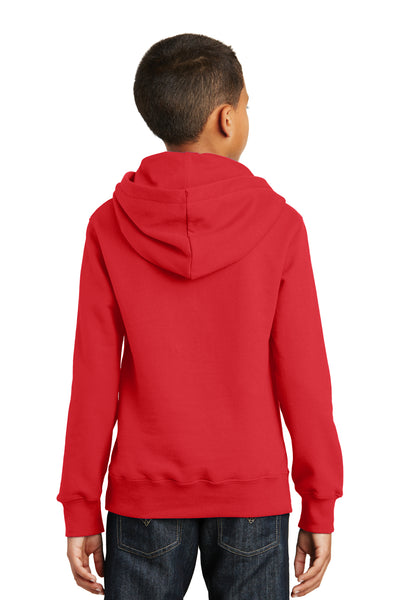 Port & Company PC850YH Youth Fan Favorite Fleece Hooded Sweatshirt Hoodie Red Back
