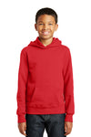 Port & Company PC850YH Youth Fan Favorite Fleece Hooded Sweatshirt Hoodie Red Front