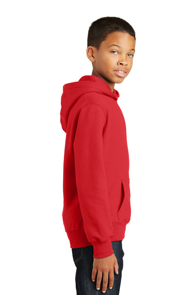 Port & Company PC850YH Youth Fan Favorite Fleece Hooded Sweatshirt Hoodie Red Side