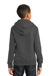 Port & Company PC850YH Youth Fan Favorite Fleece Hooded Sweatshirt Hoodie Charcoal Grey Back