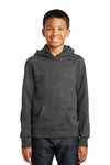 Port & Company PC850YH Youth Fan Favorite Fleece Hooded Sweatshirt Hoodie Heather Dark Grey Front