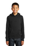 Port & Company PC850YH Youth Fan Favorite Fleece Hooded Sweatshirt Hoodie Black Front