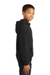 Port & Company PC850YH Youth Fan Favorite Fleece Hooded Sweatshirt Hoodie Black Side