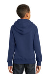 Port & Company PC850YH Youth Fan Favorite Fleece Hooded Sweatshirt Hoodie Navy Blue Back