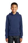 Port & Company PC850YH Youth Fan Favorite Fleece Hooded Sweatshirt Hoodie Navy Blue Front