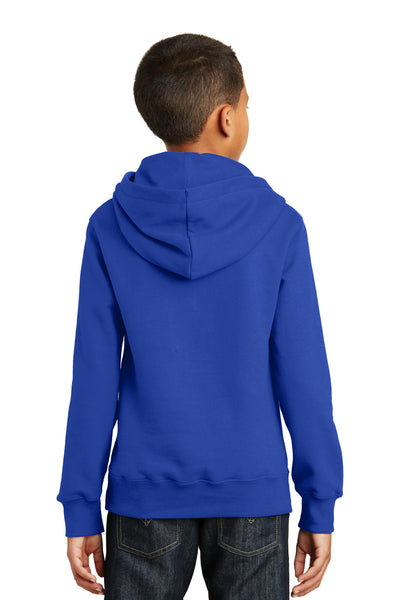 Port & Company PC850YH Youth Fan Favorite Fleece Hooded Sweatshirt Hoodie Royal Blue Back