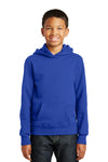 Port & Company PC850YH Youth Fan Favorite Fleece Hooded Sweatshirt Hoodie Royal Blue Front