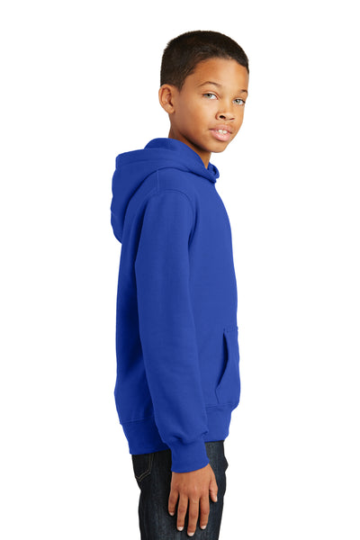 Port & Company PC850YH Youth Fan Favorite Fleece Hooded Sweatshirt Hoodie Royal Blue Side