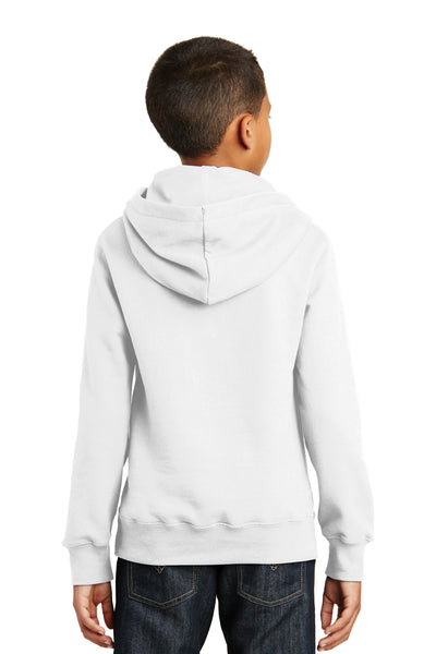 Port & Company PC850YH Youth Fan Favorite Fleece Hooded Sweatshirt Hoodie White Back