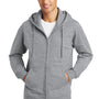 Port & Company Mens Fan Favorite Fleece Full Zip Hooded Sweatshirt Hoodie - Heather Grey