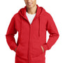 Port & Company Mens Fan Favorite Fleece Full Zip Hooded Sweatshirt Hoodie - Bright Red