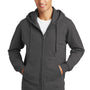 Port & Company Mens Fan Favorite Fleece Full Zip Hooded Sweatshirt Hoodie - Charcoal Grey
