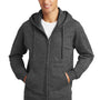 Port & Company Mens Fan Favorite Fleece Full Zip Hooded Sweatshirt Hoodie - Heather Dark Grey