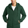 Port & Company Mens Fan Favorite Fleece Full Zip Hooded Sweatshirt Hoodie - Forest Green