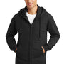 Port & Company Mens Fan Favorite Fleece Full Zip Hooded Sweatshirt Hoodie - Jet Back