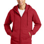 Port & Company Mens Fan Favorite Fleece Full Zip Hooded Sweatshirt Hoodie - Team Cardinal Red