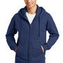 Port & Company Mens Fan Favorite Fleece Full Zip Hooded Sweatshirt Hoodie - Team Navy Blue