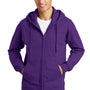 Port & Company Mens Fan Favorite Fleece Full Zip Hooded Sweatshirt Hoodie - Team Purple