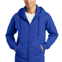 Port & Company Mens Fan Favorite Fleece Full Zip Hooded Sweatshirt Hoodie - True Royal Blue