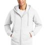 Port & Company Mens Fan Favorite Fleece Full Zip Hooded Sweatshirt Hoodie - White