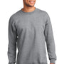 Port & Company Mens Essential Fleece Crewneck Sweatshirt - Heather Grey