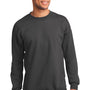 Port & Company Mens Essential Fleece Crewneck Sweatshirt - Charcoal Grey