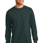 Port & Company Mens Essential Fleece Crewneck Sweatshirt - Dark Green