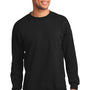 Port & Company Mens Essential Fleece Crewneck Sweatshirt - Jet Back