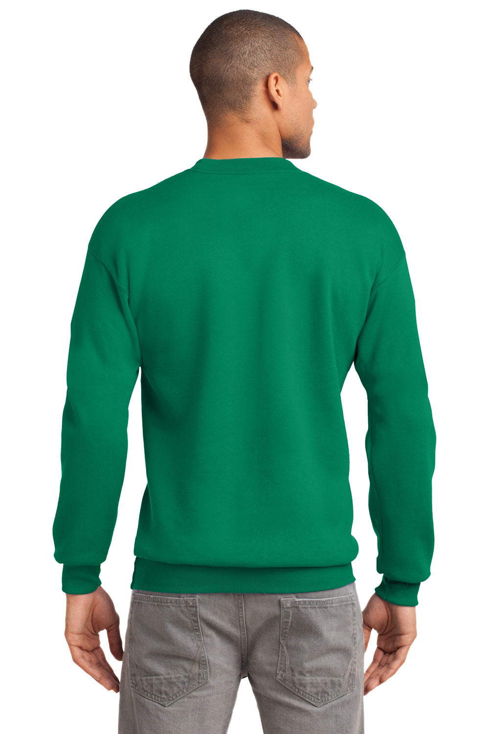 Port & Company PC90 Mens Essential Fleece Crewneck Sweatshirt Kelly Green Back