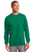 Port & Company PC90 Mens Essential Fleece Crewneck Sweatshirt Kelly Green Front