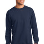 Port & Company Mens Essential Fleece Crewneck Sweatshirt - Navy Blue