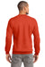 Port & Company PC90 Mens Essential Fleece Crewneck Sweatshirt Orange Back